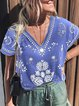 Tribal Casual Floral-Print Shirts & Tops