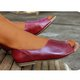 Flat Heel Side Cut Slip On Vintage Sandals For Women