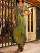 Plus Size Cocoon Women Summer Midi Dresses