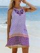 Cotton-Blend Sleeveless Dresses