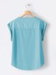 Sweet Short Sleeve Cotton Shirts & Tops