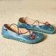 Women Vintage Flat Heel Flower Flats