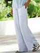 Solid Linen Paneled Pants