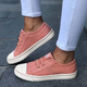 Simple Canvas Slip On Casual Womens Sneakers