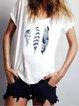 White Short Sleeve V Neck Shirts & Tops