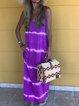 Sleeveless Color-Block Cotton Dresses