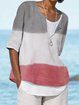 Casual Half Sleeve Striped Shirts & Tops