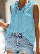 Holiday Striped Sleeveless V Neck Shirts & Tops