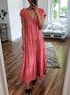 Ruffled V Neck Boho Dresses