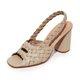 Chunky Heel Summer Pu Sandals