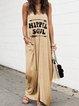 Printed Graphic Sleeveless V Neck Dresses