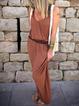 V Neck Cotton-Blend Casual Dresses