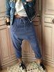 Vintage Solid Cotton Pants