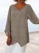 Women's Casual Cotton-Linen Tops