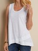 Cotton-Blend Solid Casual Shirts & Tops