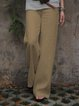 Casual Cotton Solid Pants