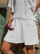 Women Casual Pocket Pants Shorts