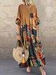 Cotton-Blend Half Sleeve Vintage Dresses