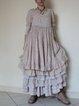 Casual Short Sleeve Round Neck Plus Size Dress