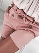 Plus Size Solid Bow Casual Tie Shorts