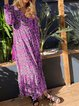 Printed V Neck Women Dresses Going Out Boho Floral Dresses