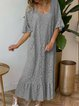 Guipure lace Crew Neck Women Dresses Going Out Tribal Dresses