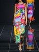 Women Sleeveless Patchwork Dresses