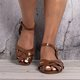 Crossed Strap Flats Adjustable Buckle Sandals