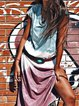 Plus Size Maxi Dresses Summer V Neck Short Sleeve Tie-Dye Boho Dresses