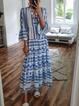 Cotton-Blend Casual Long Sleeve Dresses