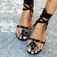 Women's Casual Lace-Up  Holiday Flat Sandals