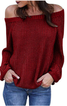 Balloon Sleeve Off Shoulder Knitted Outerwear