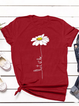Casual Floral-Print Cotton-Blend Short Sleeve Shirts & Tops