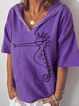 Casual Printed Cotton Seahorse Graphic Shirts & Tops