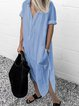 V Neck Women Summer Dresses Shift Linen Dresses