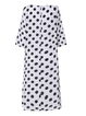Casual Polka Dot Long Sleeve Plus Size Dress