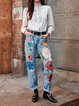 Casual printed jeans