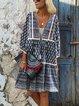 Linen Sweet V Neck Dresses