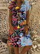 Printed Holiday Mini Dress