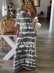 Boho Color-Block Ombre/tie-Dye Long Sleeve Dresses