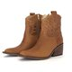 Zipper Chunky Heel Ankle Booties Rivet Women Vintage Boots