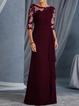 Bateau/boat Neck Women Dresses Shift Evening Lace Plain Dresses