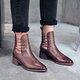 Stylish Genuine Leather Square Toe Chunky Heel Boots