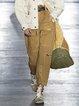 Zipper Casual Patchwork Cotton-Blend Pants