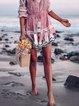 V Neck Women Summer Dresses