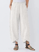 Pockets Striped Shift Casual Pants