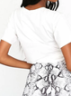 White Letter Shift Short Sleeve Shirts & Tops