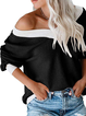 Solid Long Sleeve Knitted Shirts Tops