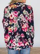Plus Size Flowers Printed Outwear Blouse Tops