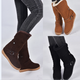 Casual Flat Buckle Strap Snow Boots